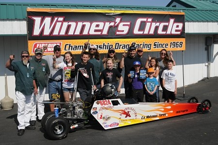 FISCUS WINS JUNIOR DRAGSTER CLASS ON MAY 9TH