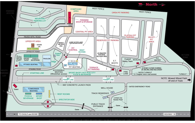 Firebird Raceway Track Map 2016