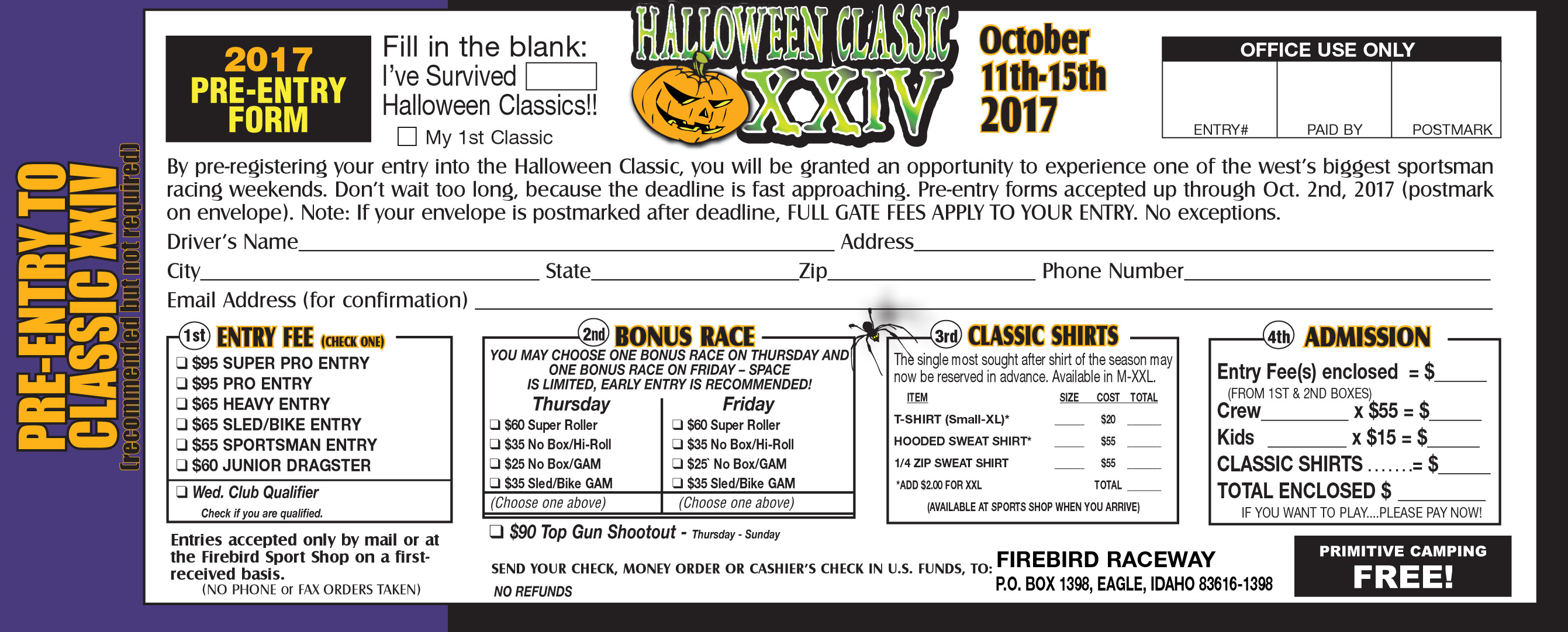 Halloween Classic / October 11-15, 2017 / Firebird Raceway